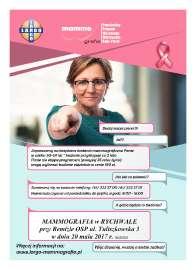 Badania Mammografia - 20 maja 2017 r.