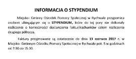 INFORMACJA O STYPENDIUM