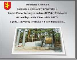 Pomnik Biała Panieńska 2017