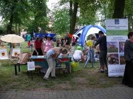 Powiatowe Dni Rodziny 2016- relacja_6 zdjęcie przedstawia:grupę osób w parku