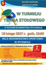 Turniej Tenisa Stołowego 2017
