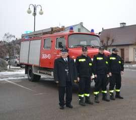 Uroczyste przekazanie wozów strażackich